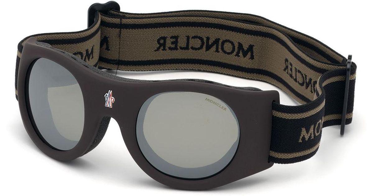 79c950356c03 Moncler Men's Smoke Lens Active Ski Goggle Sunglasses in Brown for Men -  Lyst
