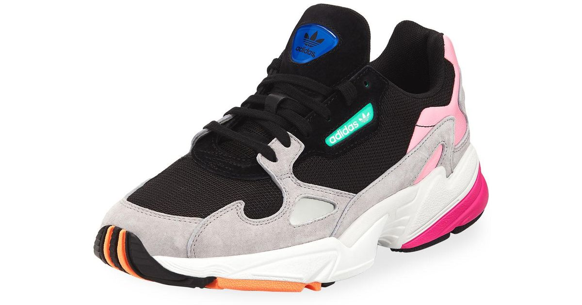 info for f0574 4a333 adidas Falcon Women s Mixed-media Sneaker in Black - Lyst