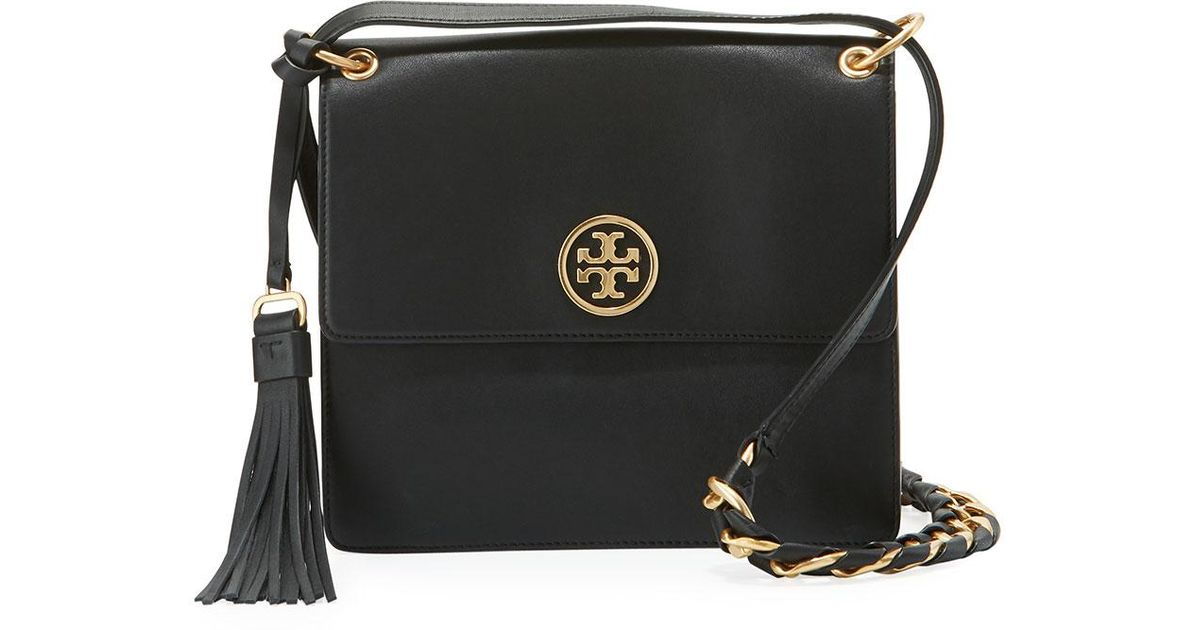 0ebe02347960 Lyst - Tory Burch Brooke Smooth Leather Shoulder Bag