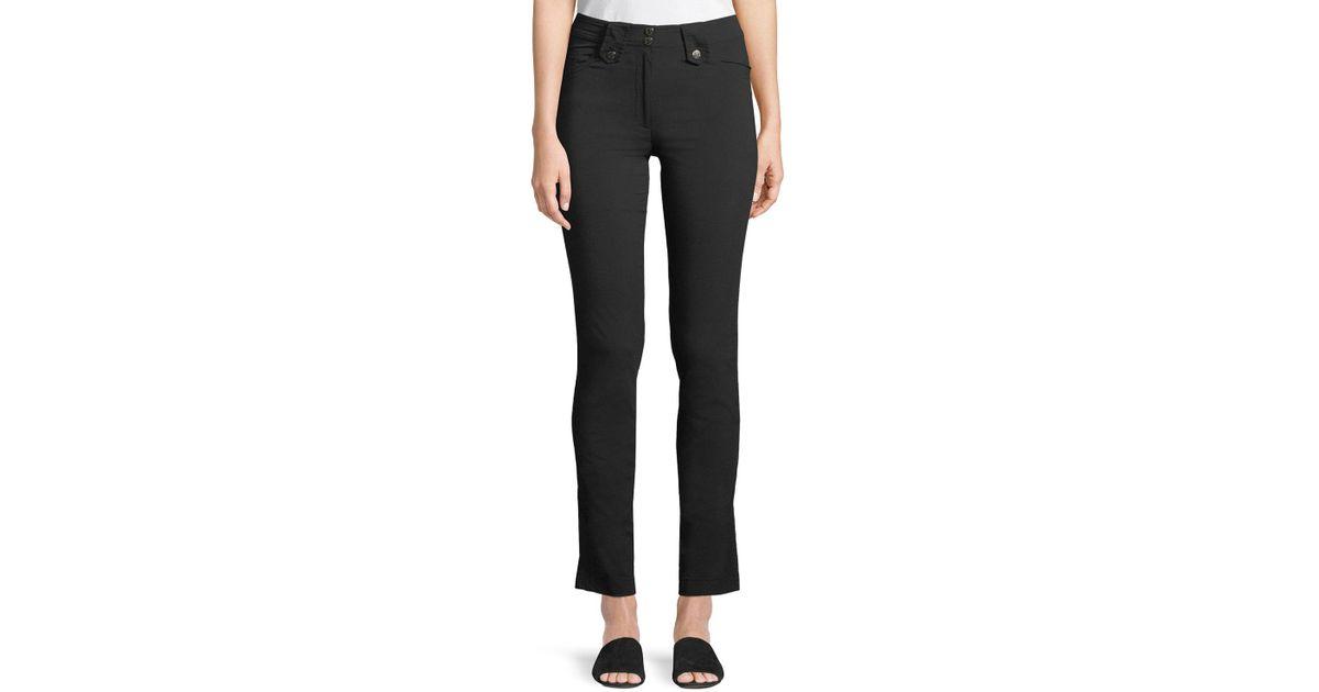 Lyst - Anatomie Skyler Five-pocket High-rise Pants in Black