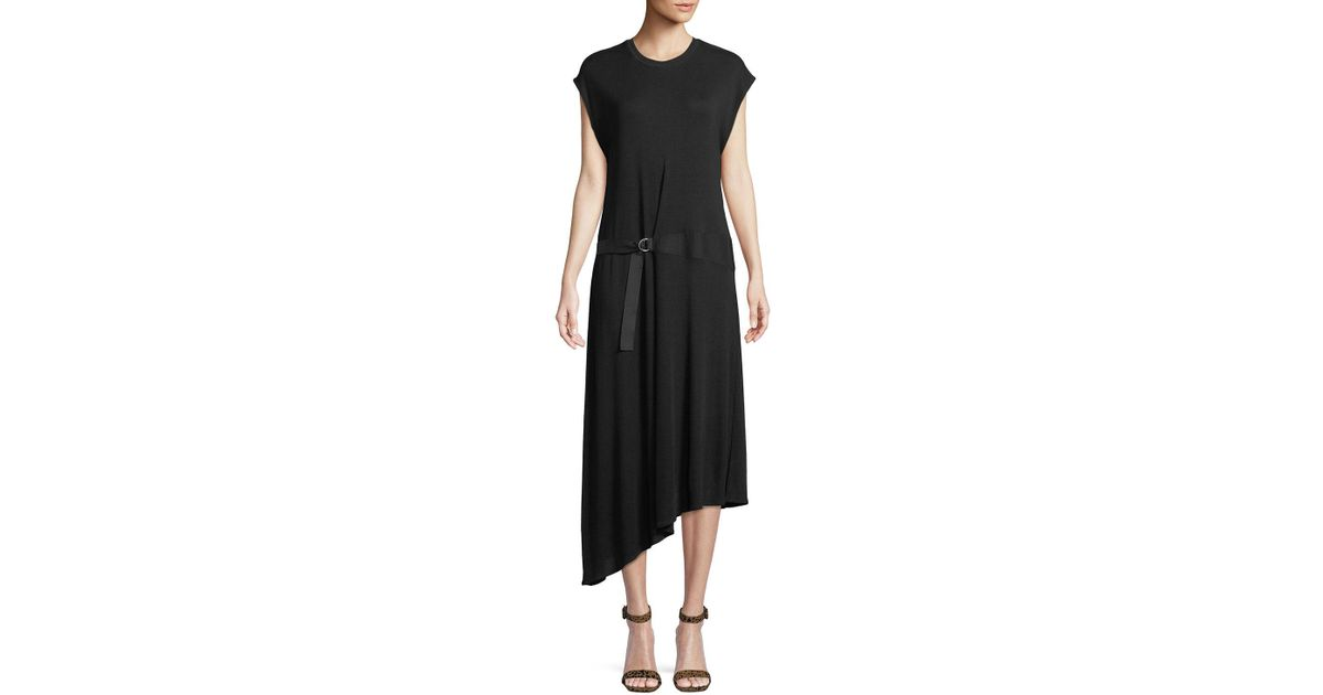 9e257ee2 Rag & Bone Ophelia Asymmetric Dress in Black - Lyst