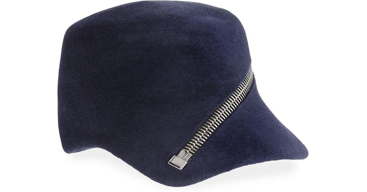 32 miami dolphins hat u2026  lyst philip treacy velour baseball cap w  oversized zip detail in blue for men 0a200c8893c9