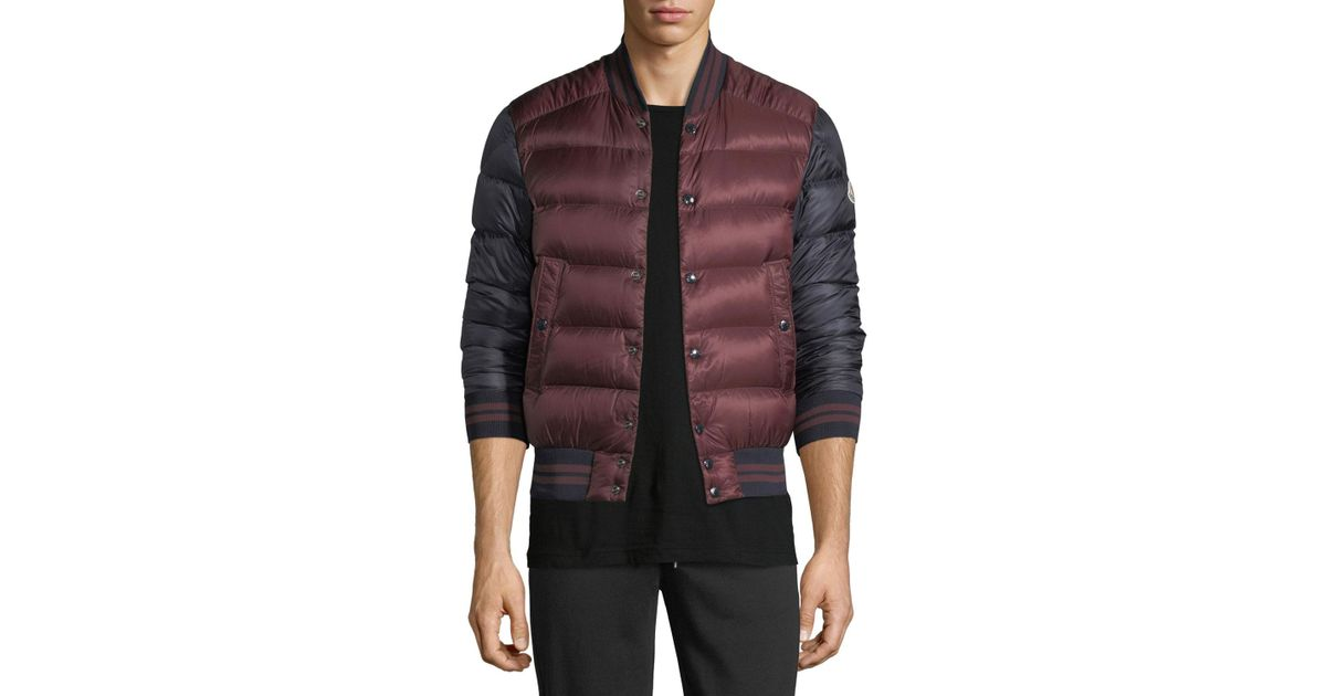 Moncler Red Bradford Puffer Jacket for men
