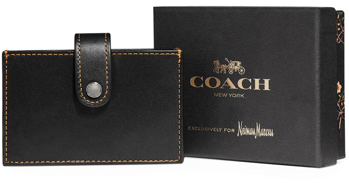 Lyst - Coach Accordion Leather Card Case in Black for Men