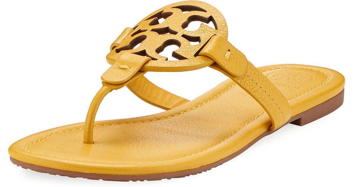 78f29bbf3dba Lyst - Tory Burch Miller Leather Logo Sandal