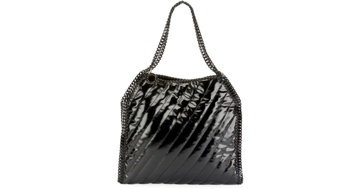d33511c32a41 Lyst - Stella McCartney Falabella Small Quilted Alter Napa Tote Bag in Black