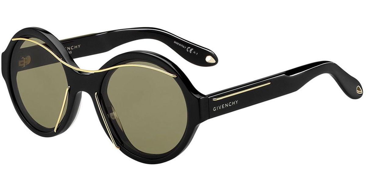 94afa22dcd Lyst - Givenchy Round Acetate Sunglasses W metal Wires in Black