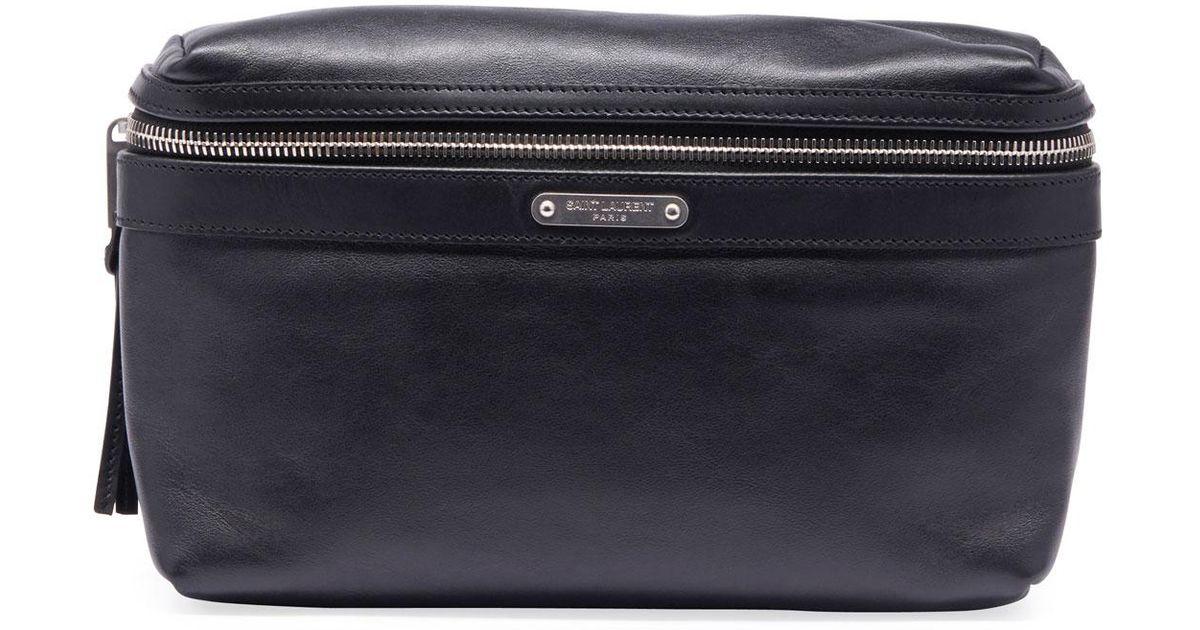 613ab80577f Saint Laurent Men's Ysl Marsupio Leather Belt Bag in Black for Men - Lyst