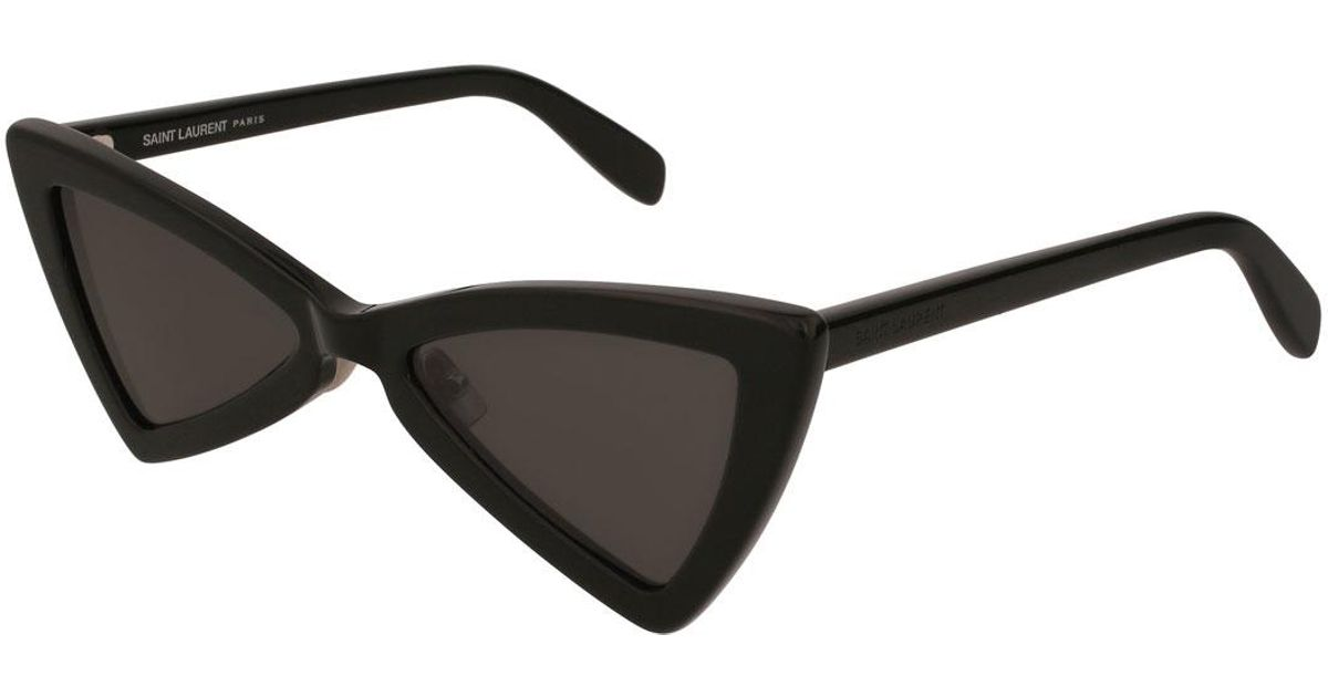 c525b163c5 Saint Laurent Sl 207 Triangle Acetate Sunglasses in Black - Lyst