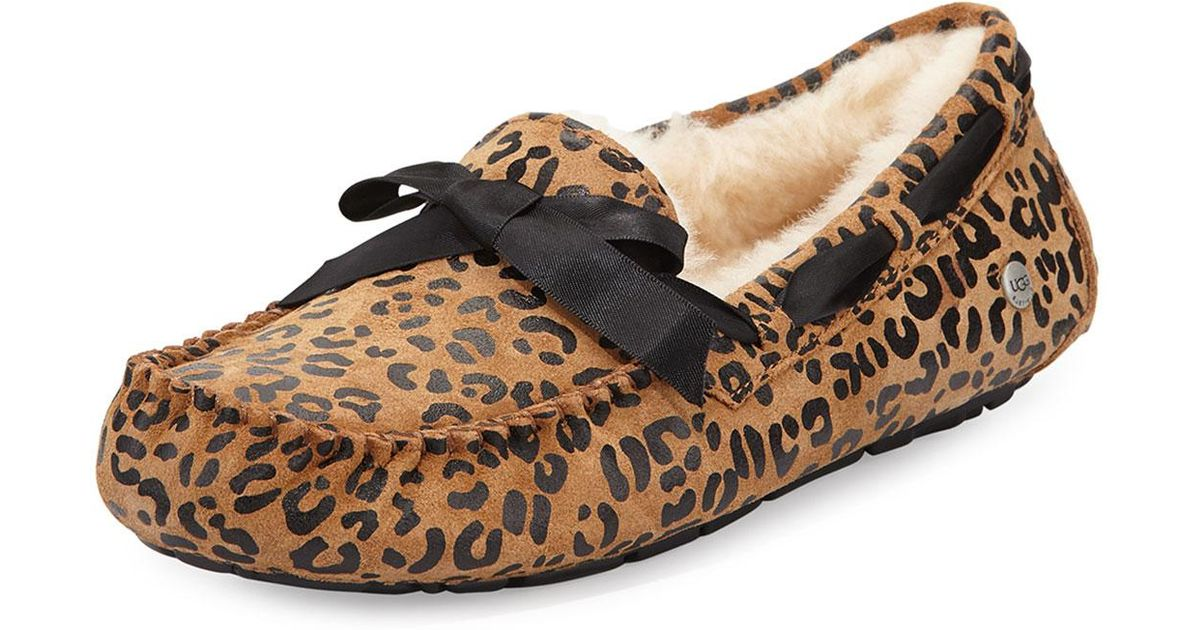 535e2f8f0aa Lyst - UGG Dakota Leopard Bow-tie Slipper in Brown