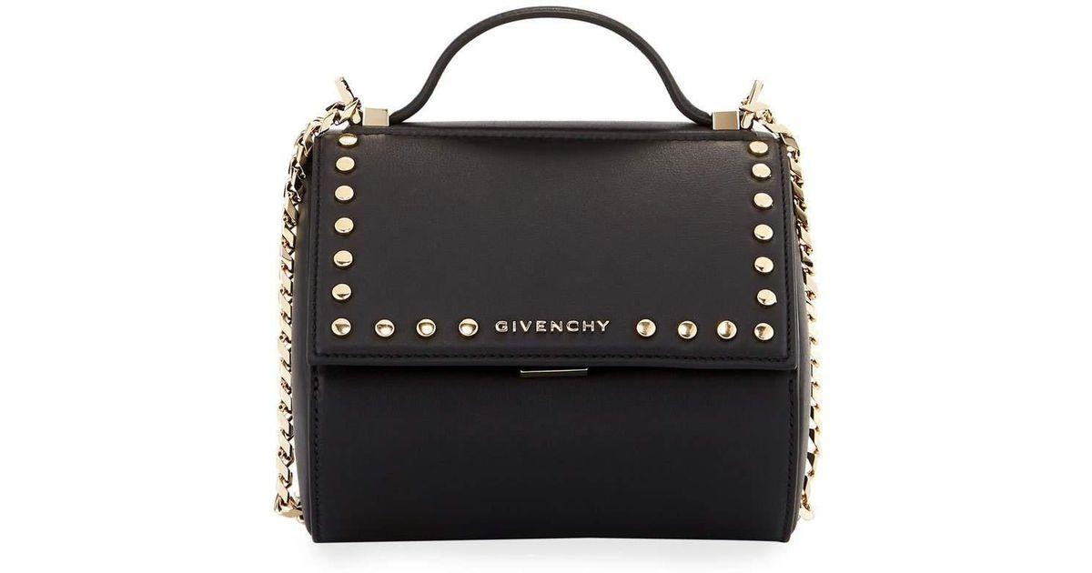 1e4c45e039d6 Givenchy - Black Pandora Box Chain Studded Shoulder Bag - Lyst