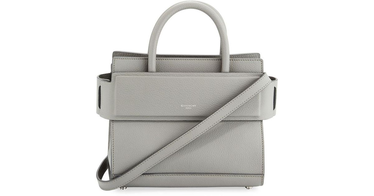 d46283ac6149 Lyst - Givenchy Horizon Mini Grained Leather Tote Bag in Gray