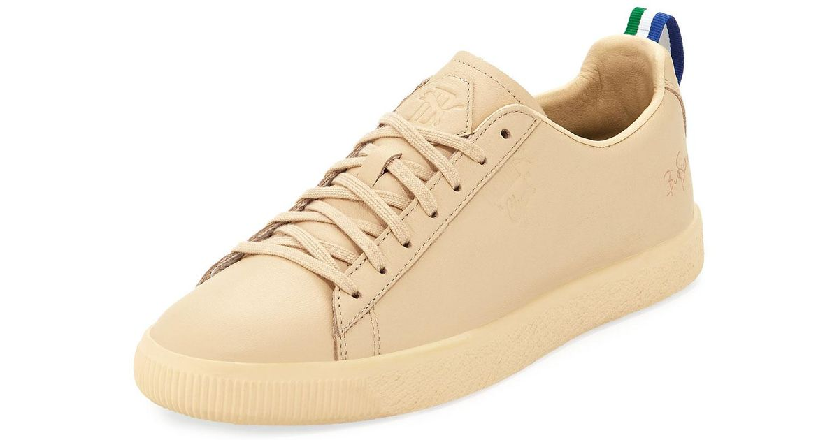 5f7f570b056 Lyst - PUMA Men s X Big Sean Clyde Leather Creeper Sneakers in Natural for  Men