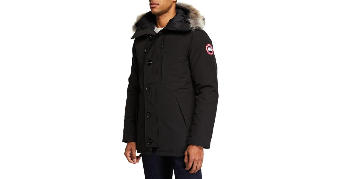 Lyst - Canada Goose Men s Chateau Parka Coat - Fusion Fit in Red for Men a51a16f1c2da