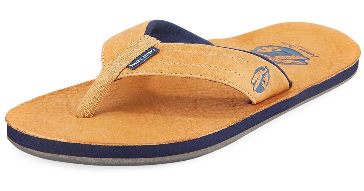 65b02056e230 Lyst - Hari Mari X Nokona Men s Leather Thong Sandals Honey for Men