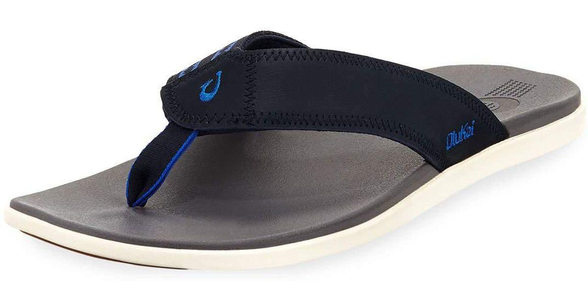 3268c8d5ad0 Lyst - Olukai Men s Kinona Neoprene Thong Sandals in Blue for Men
