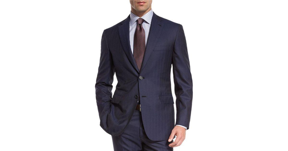 d6631a0906e729 Brioni Multi-stripe Super 150s Wool Two-piece Suit in Blue for Men - Lyst