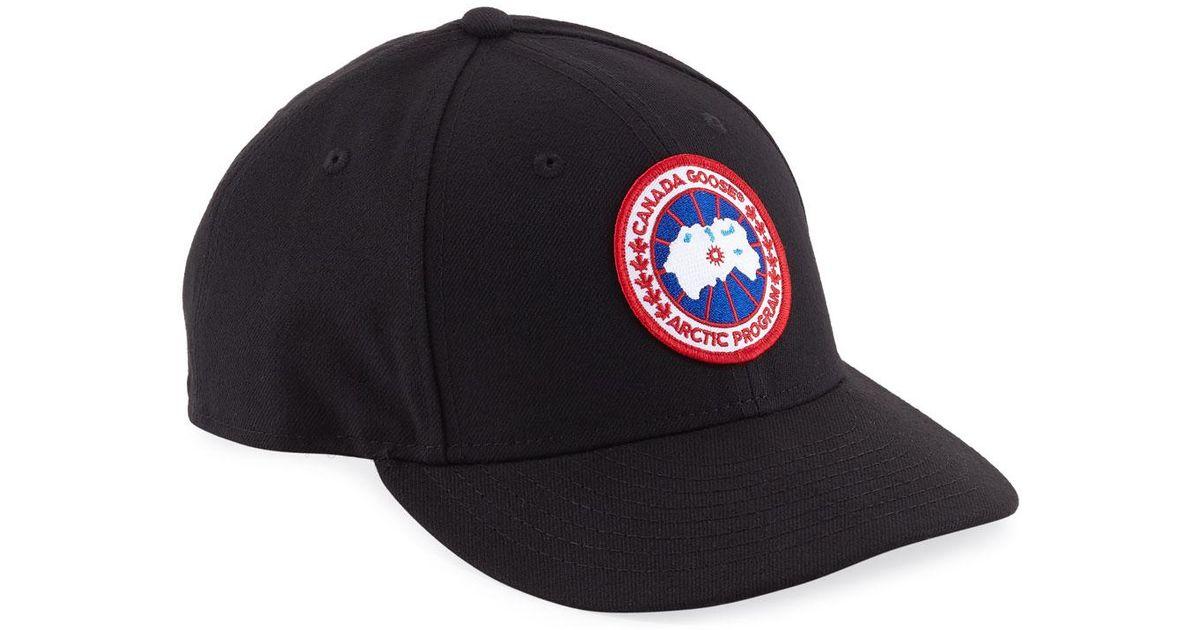 59b6646295d Canada Goose Curved Baseball Cap in Black for Men - Lyst