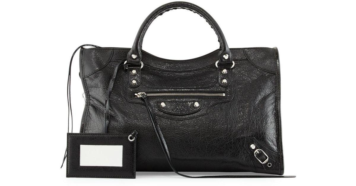 Balenciaga Classic Nickel City Bag, Black