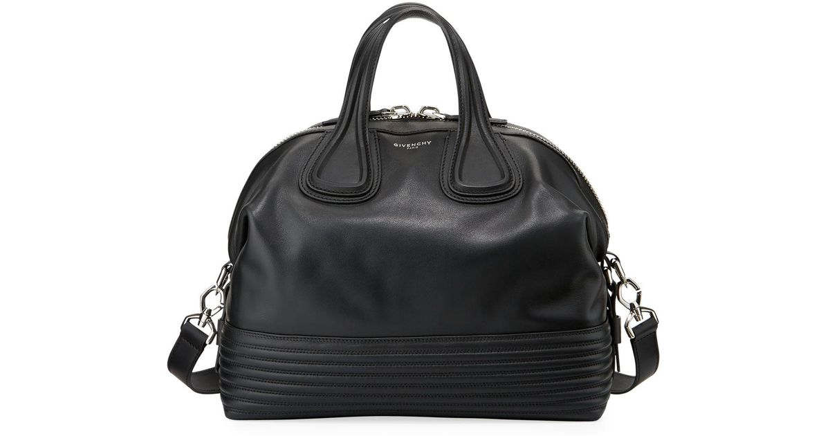 Lyst - Givenchy Nightingale Medium Biker Satchel Bag in Black eac9938f06bf4