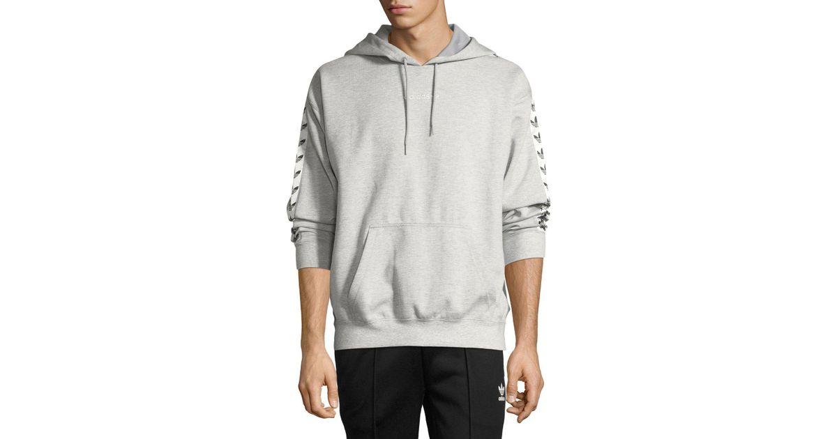 9cb91a96ffbd Lyst - adidas Originals Tnt Tape Hoodie Pullover Sweatshirt in Gray for Men