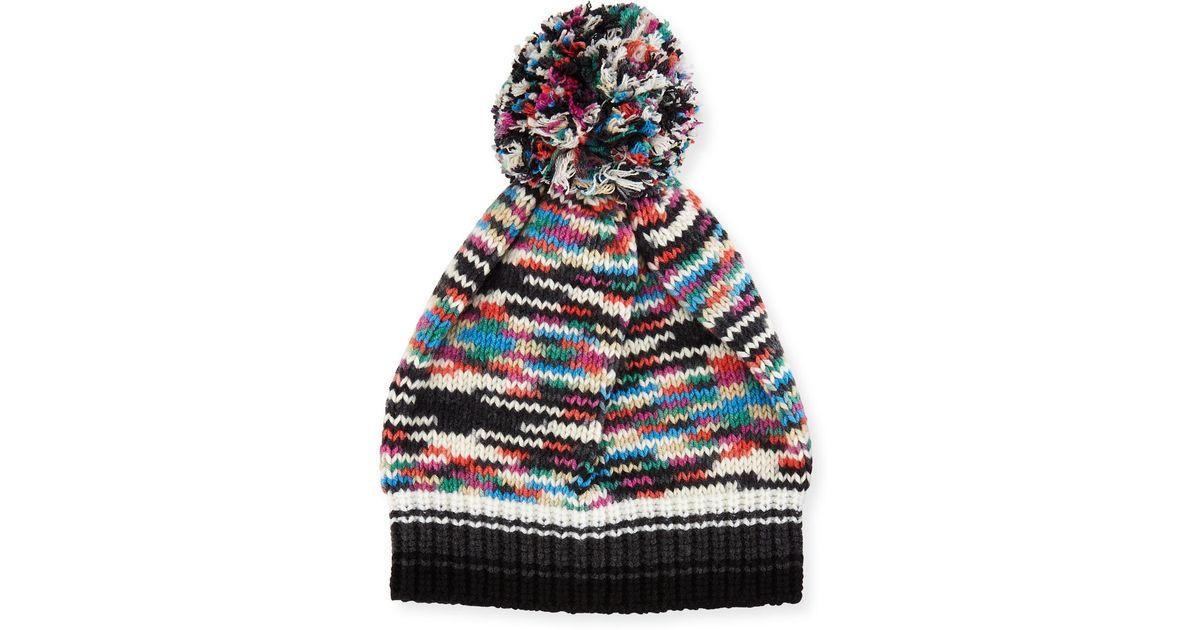 183d302d2cf Lyst - Missoni Space-dye Knit Pompom Beanie Hat