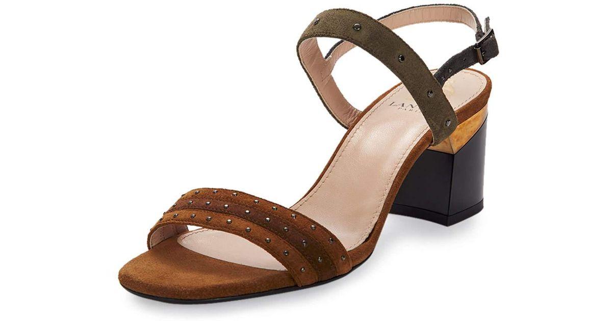 Lanvin Sandals with strap suede SYmcstNGsZ