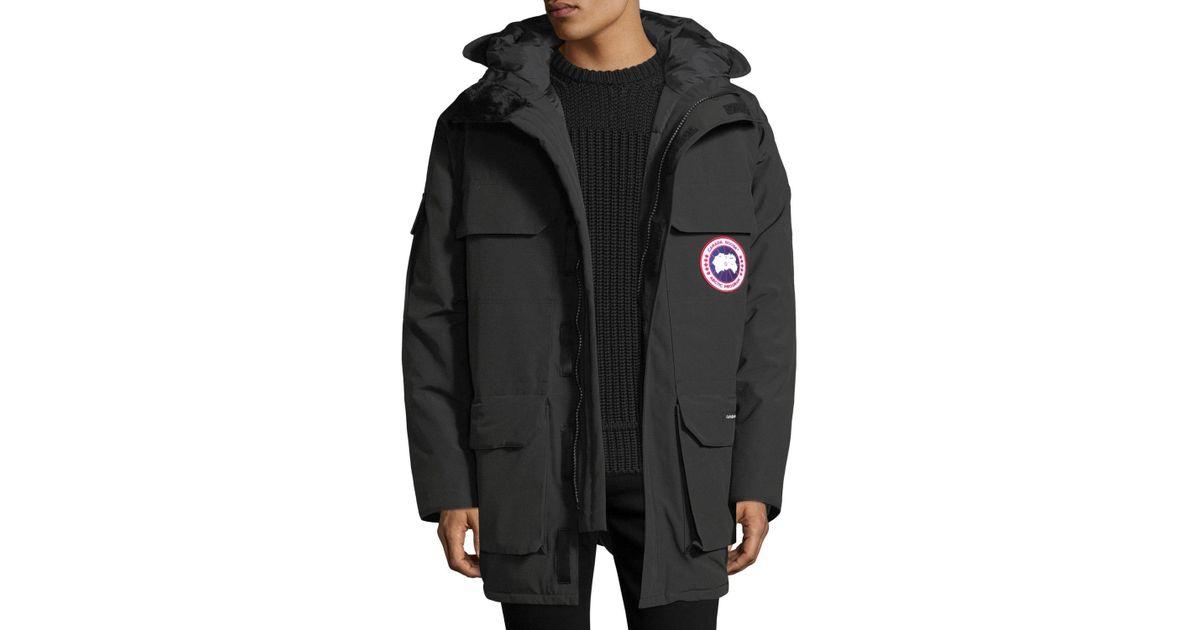 f9f8da0ed56 Lyst - Canada Goose Men's Expedition Hooded Parka Coat in Black for Men