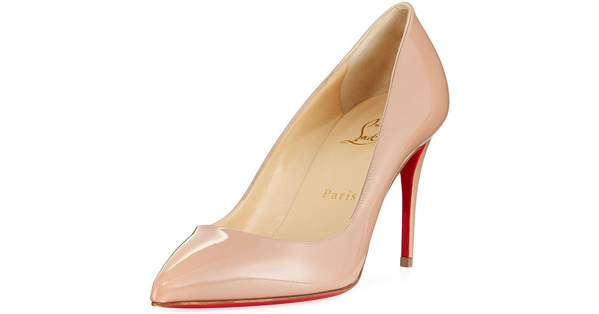 0ab9e510e34 Christian Louboutin - Natural Pigalle Follies 85mm Patent Red Sole Pump -  Lyst