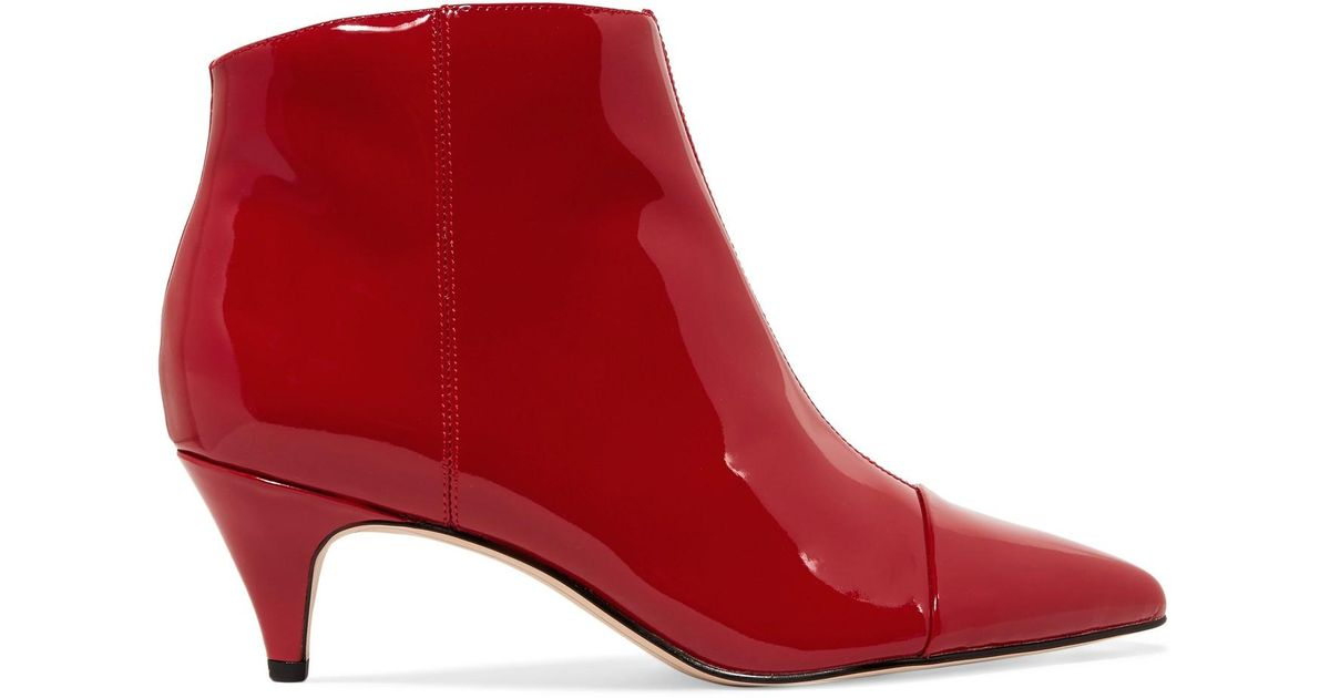 ffee253d1b345e ... Lyst - Sam Edelman Kinzey Patent-leather Ankle Boots in Red lowest  discount 4a719 50228 ...