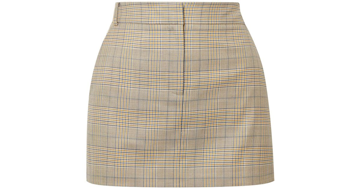 0ea1301609 Tibi Cooper Prince Of Wales Checked Wool And Silk-blend Mini Skirt - Save  61% - Lyst