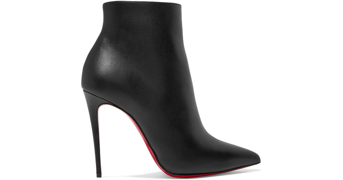 672d4d5075d4 Christian Louboutin So Kate 110 Leather Ankle Boots in Black - Lyst