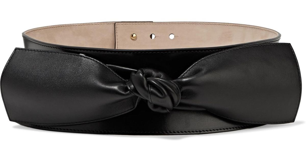 Knotted Leather Waist Belt - Black Alexander McQueen mtNk6e1G