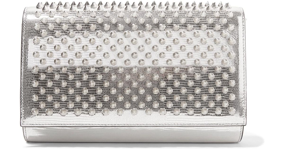 3931dfa31c2 christian-louboutin-silver-Paloma-Spiked-Metallic-Lizard-effect-Leather-Clutch.jpeg
