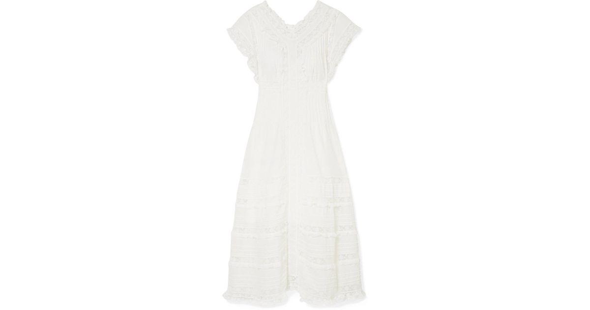 Iris Lace-trimmed Fil Coupé Cotton-voile Midi Dress - Black Zimmermann 4qNthruJB