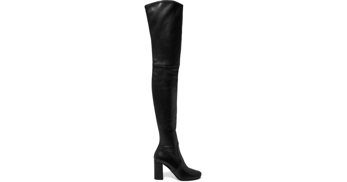 2cd19d692d8 Lyst - Prada Leather Over-the-knee Boots in Black