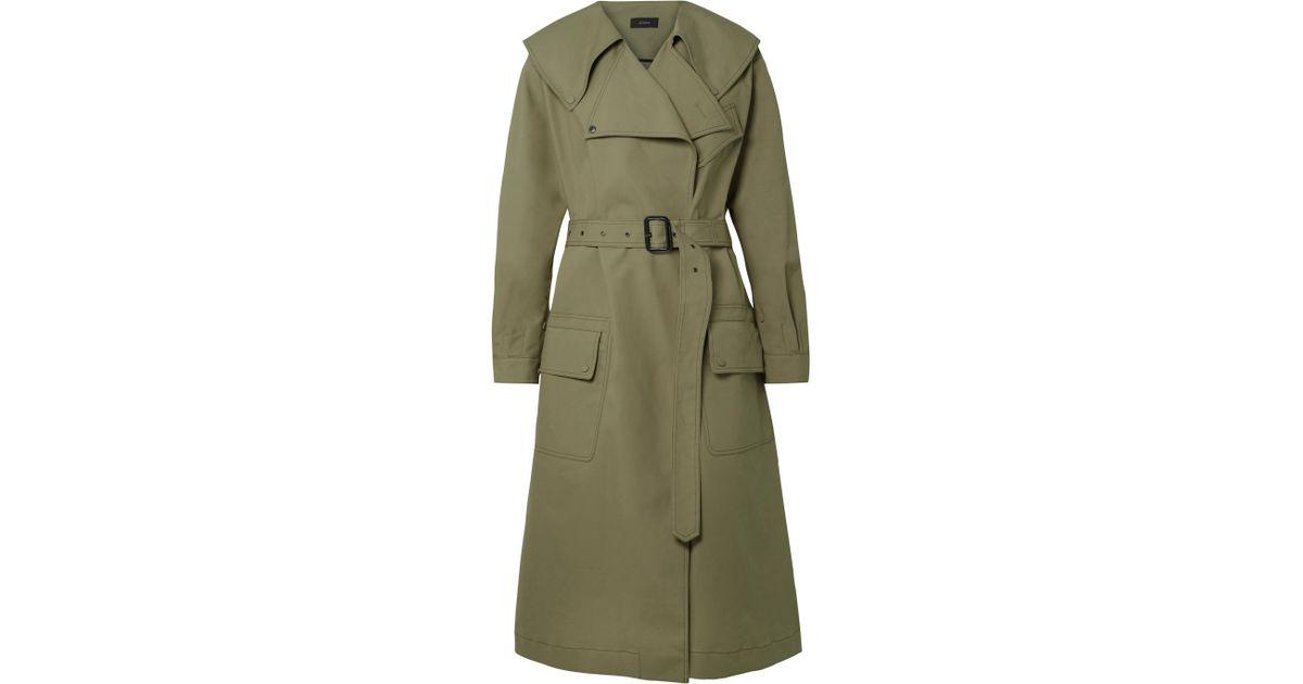 b7e561303a00 Lyst - JOSEPH Damon Oversized Cotton-garbardine Trench Coat in Green