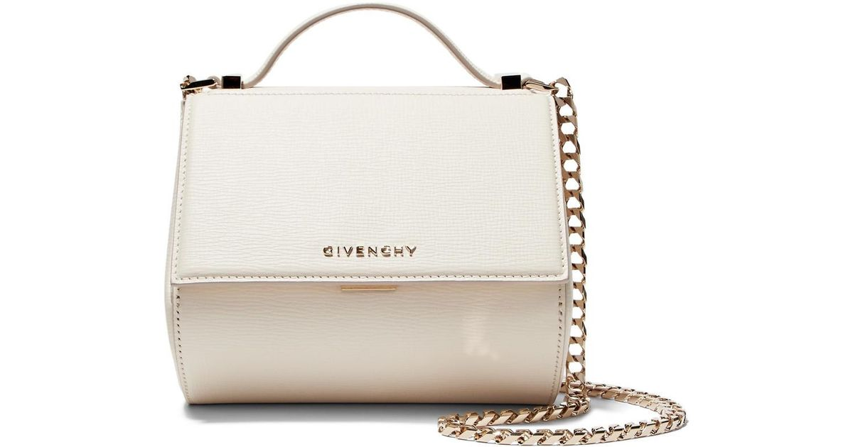 f9855a09dc Lyst - Givenchy Pandora Box Mini Textured-leather Shoulder Bag in White