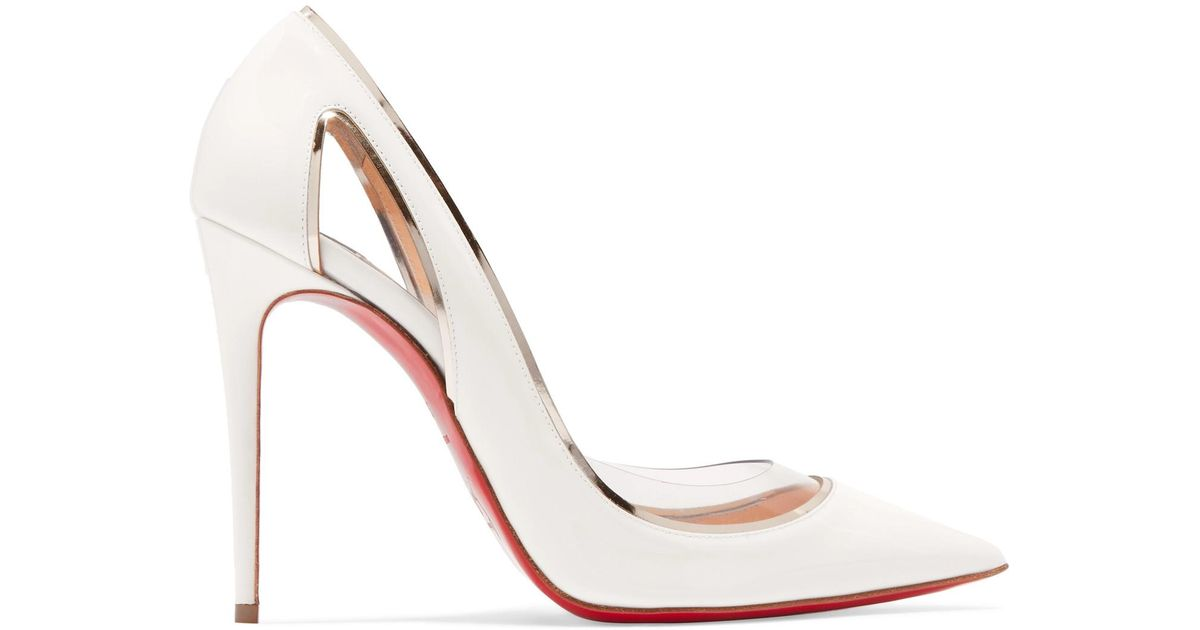 86c73e8fbe38 Christian Louboutin Cosmo 554 Patent Leather Pumps in White - Save 15% -  Lyst