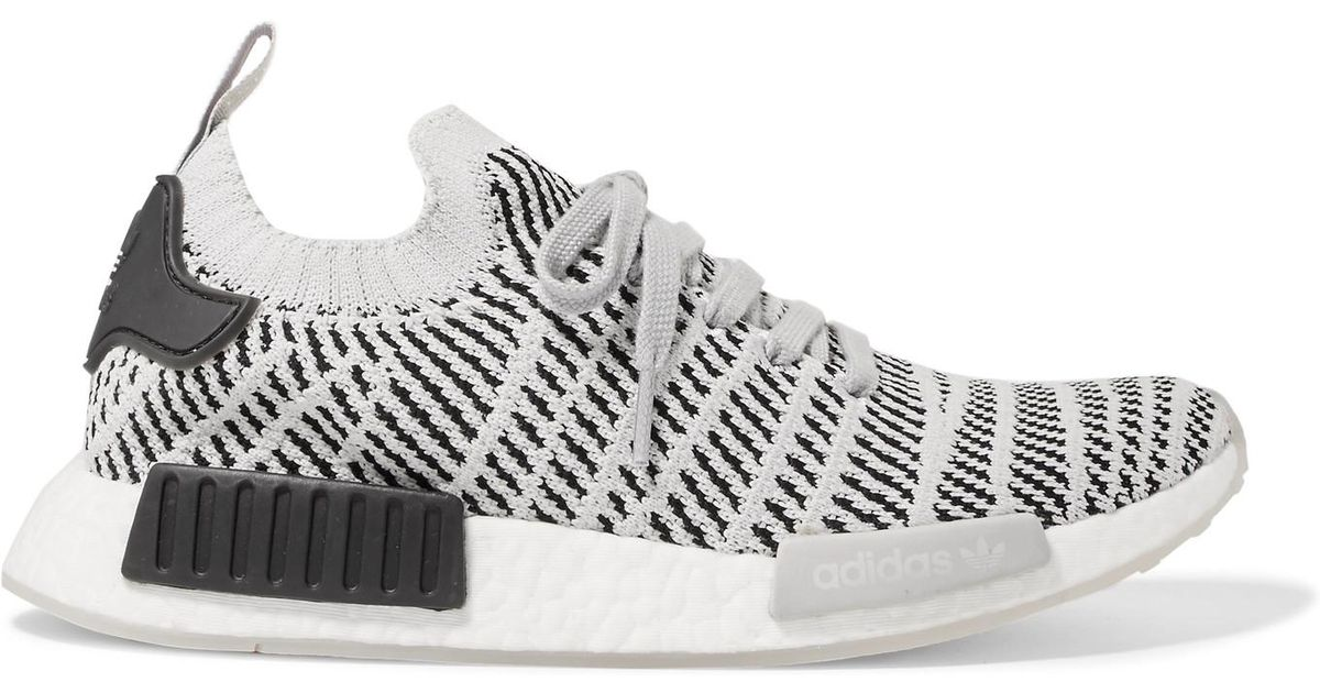 promo code 90839 791e5 Adidas Originals Nmd R1 Rubber-trimmed Primeknit Sneakers in Gray - Lyst