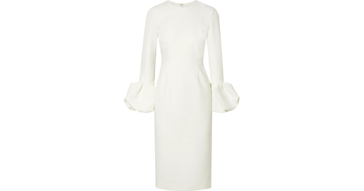 Lena Ruffled Stretch-crepe Dress - Ivory Roksanda Ilincic U9WWI7y
