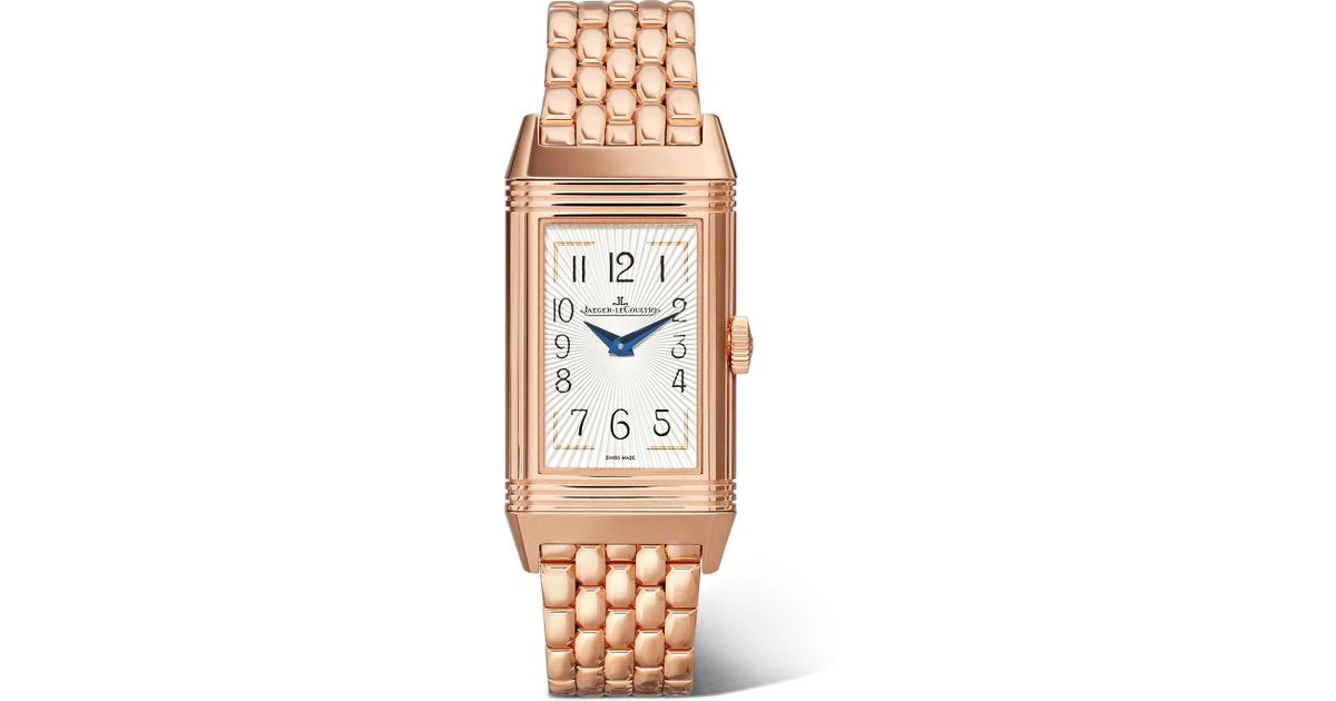 5c0b382fc5f Jaeger-lecoultre Reverso One Duetto Moon 20mm Rose Gold And Diamond Watch  Rose Gold One Size in Metallic - Lyst