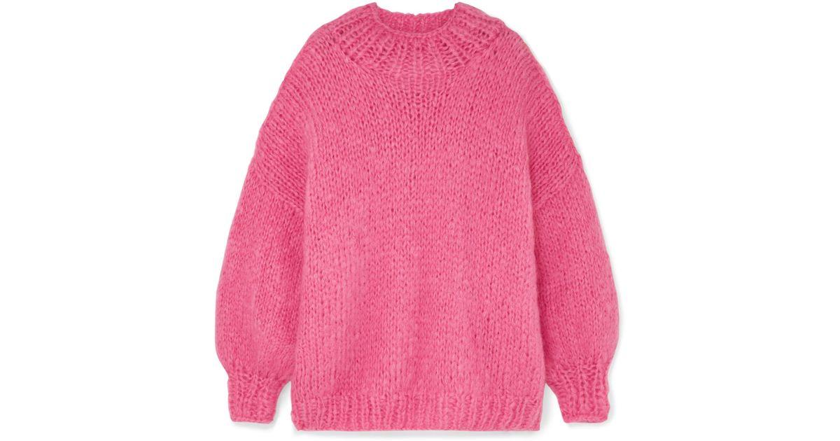The Knitter The Bubblegum Mohair-blend Sweater in Pink - Lyst 6c058e72b
