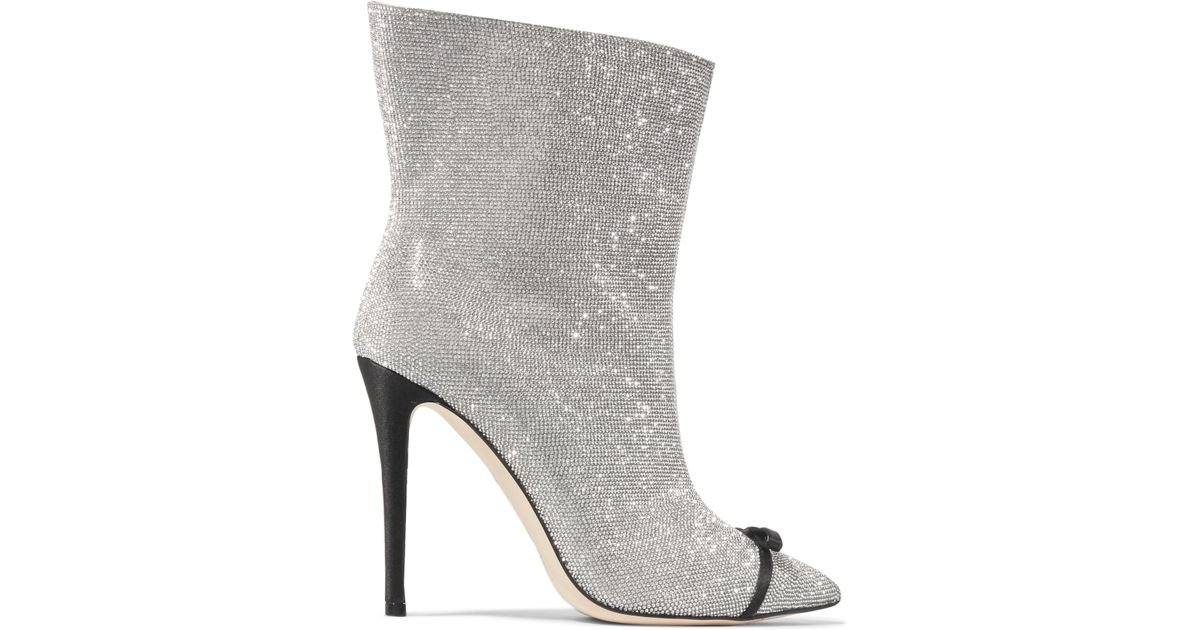 Vincenzo Leather Swarovski Ankle Crystal De Marco Embellished Boots zqZ5w6x8