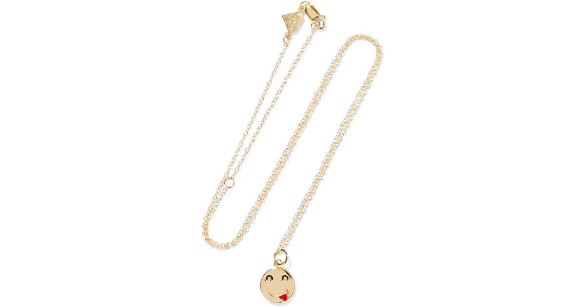 Mama Mia 14-karat Gold Necklace - one size Alison Lou