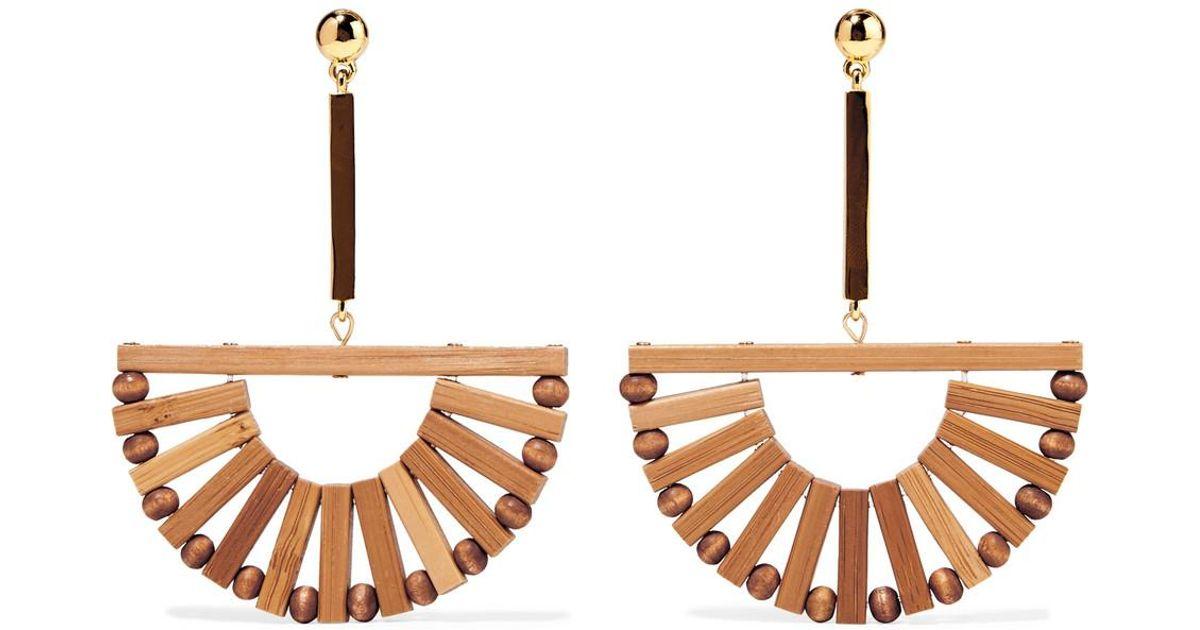 Cult Gaia Ark Bamboo And Gold-tone Earrings - Beige 52m30MKpw