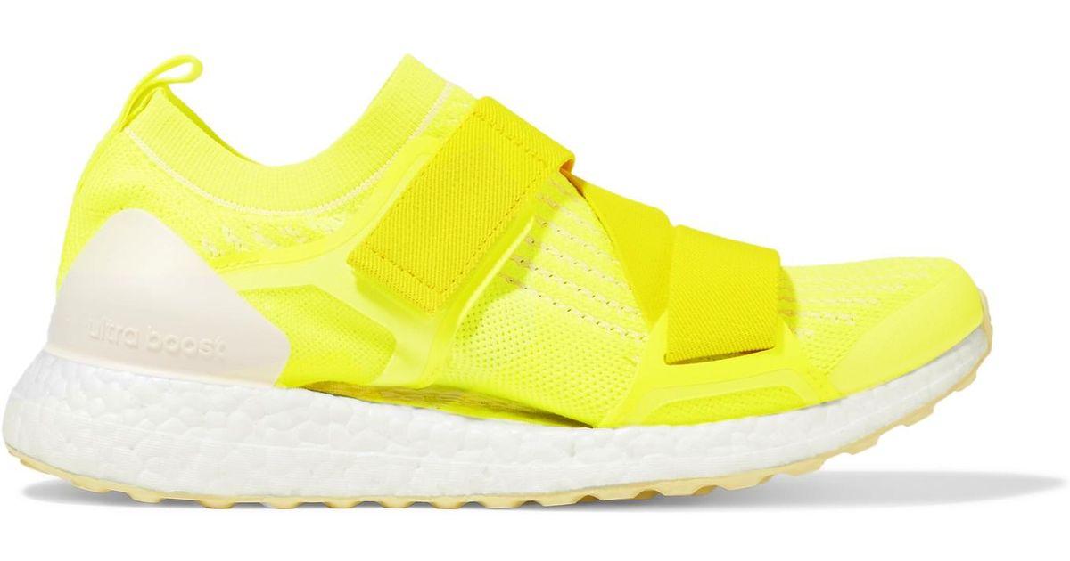 4043b23416607 Lyst - adidas By Stella McCartney Ultraboost X Neon Primeknit Sneakers in  Yellow