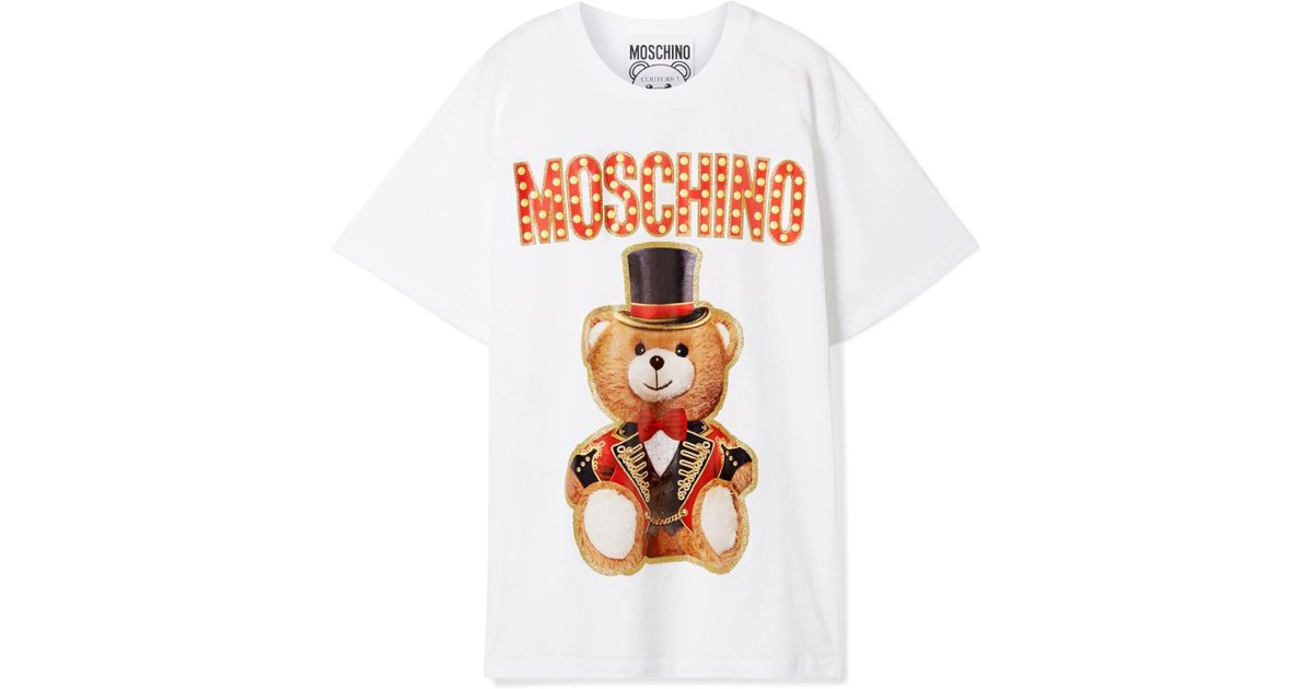 16f1dc37b Lyst - Moschino Ringmaster Teddy T-shirt in White - Save 42%