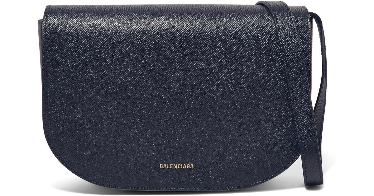 17065bf020 Lyst - Balenciaga Ville S Aj Textured-leather Shoulder Bag in Blue