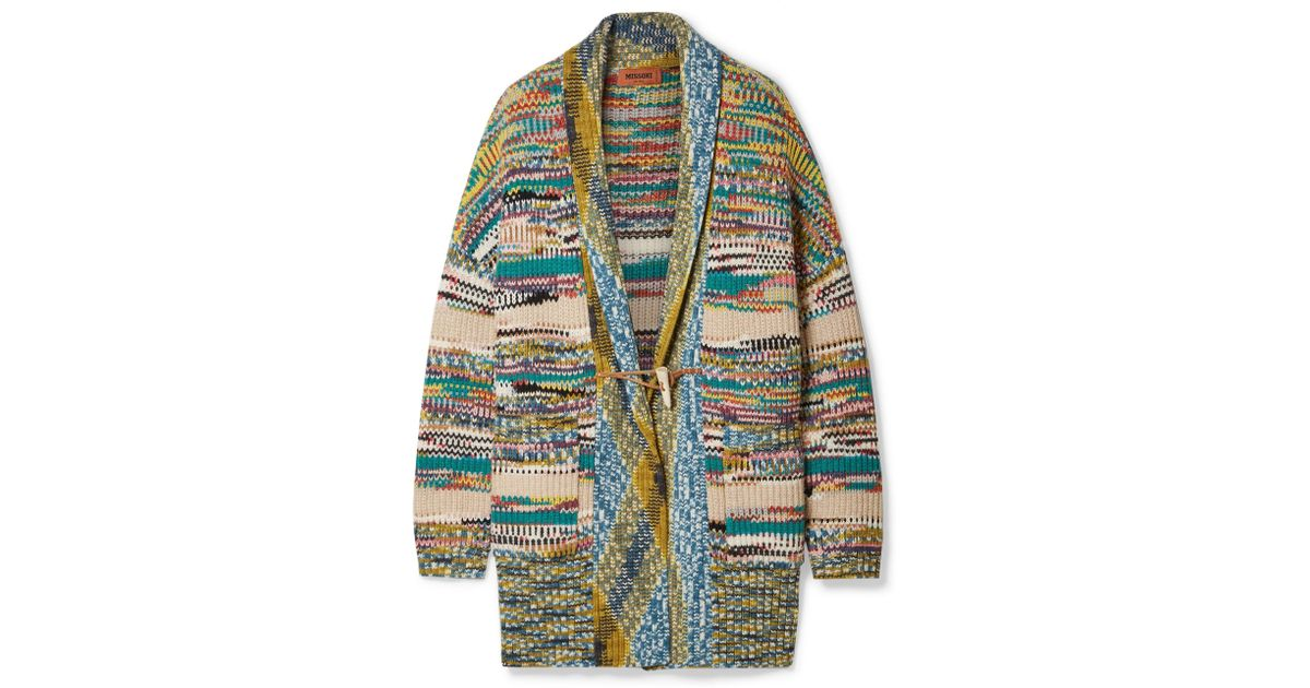 Lyst - Missoni Oversized Crochet-knit Wool-blend Cardigan in Blue 59a39cb9d